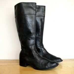 Born Womens Asbee Riding Boot Black Leather Sz 8